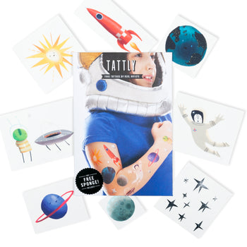 Space Explorer Temporary Tattoos
