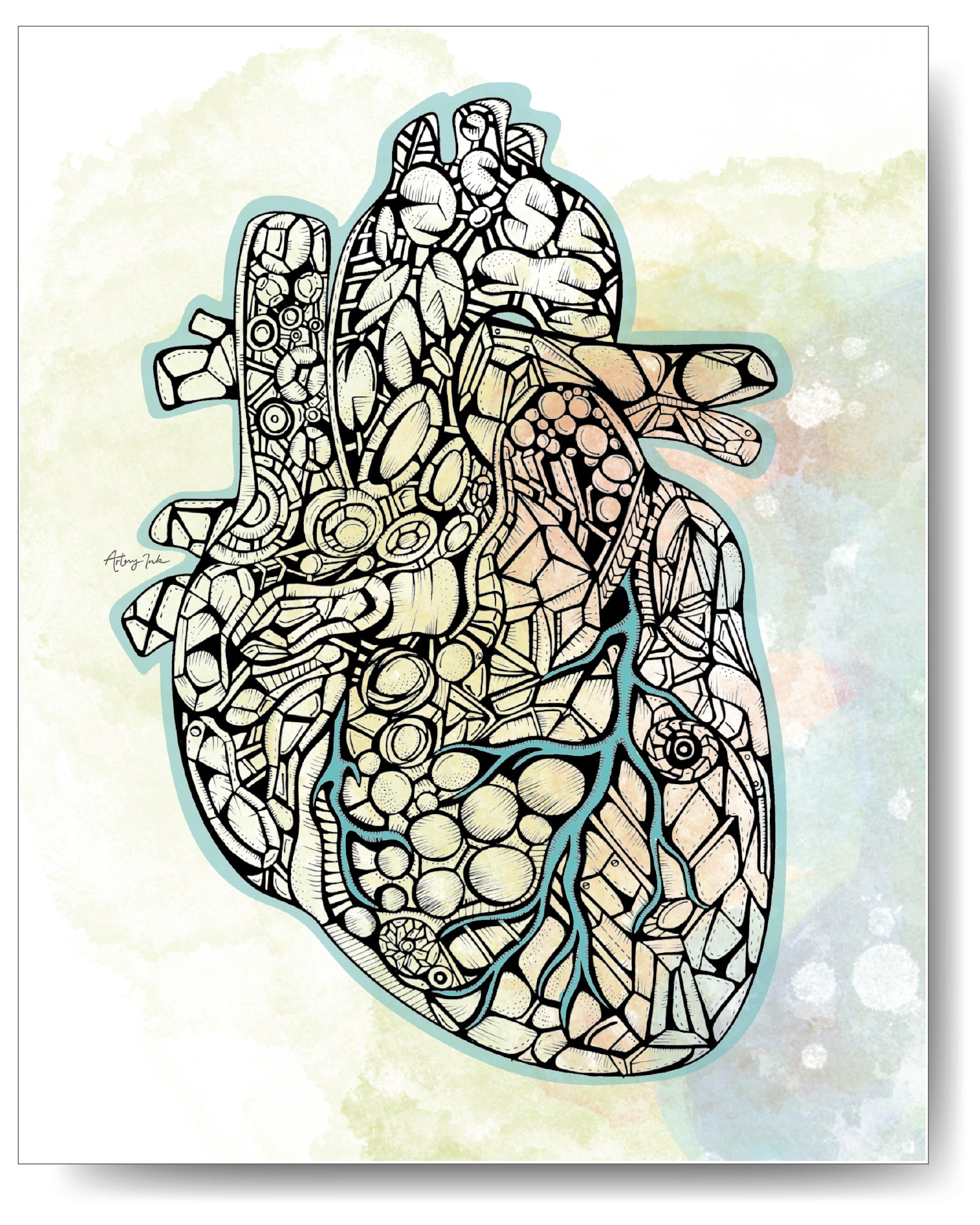 Diamond Series - Heart - 8x10 or 11x14