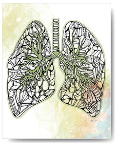 Diamond Series - Lungs - 8x10 or 11x14