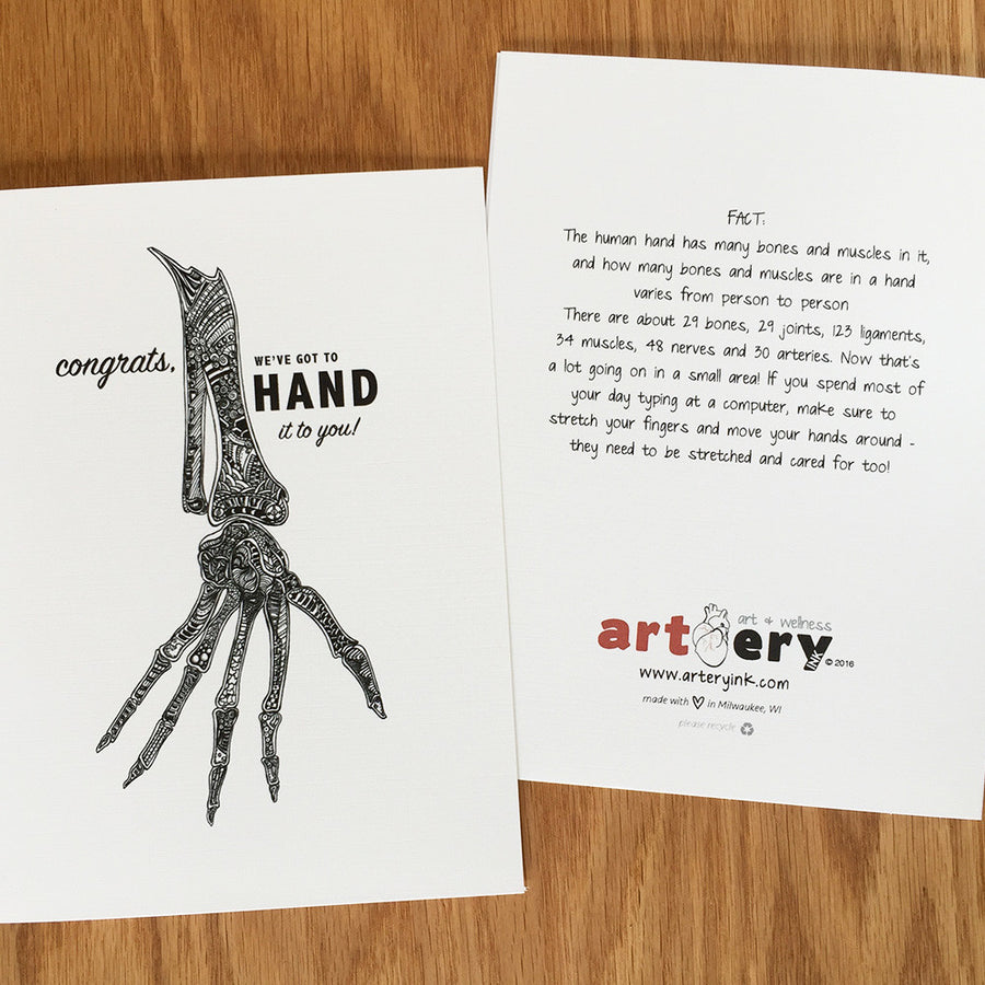 Hand Bones - Congrats / Encouragement (#4004)