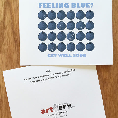 Feeling Blue Blueberries - Get Well Soon (#7201)