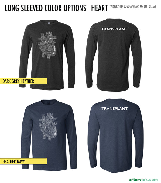 Transplant Awareness - Heart Apparel