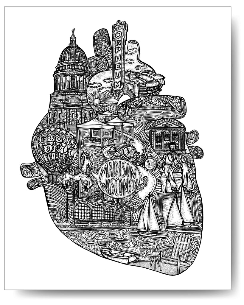 Heart of Madison - 8x10 or 11x14