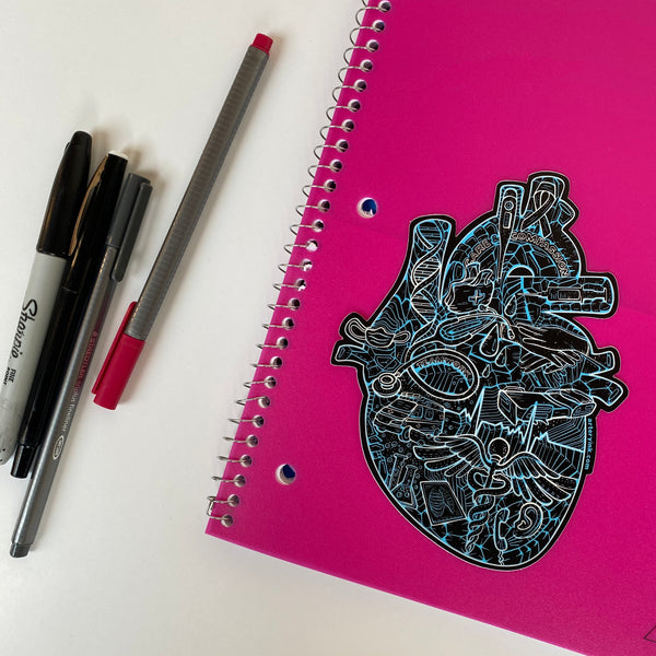 Heart of Healthcare Vinyl Sticker