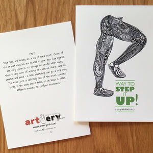 Step It Up Legs - Promotion / Encouragement (#4102)