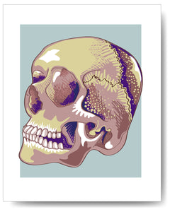 Purple Vector Skull - 8x10
