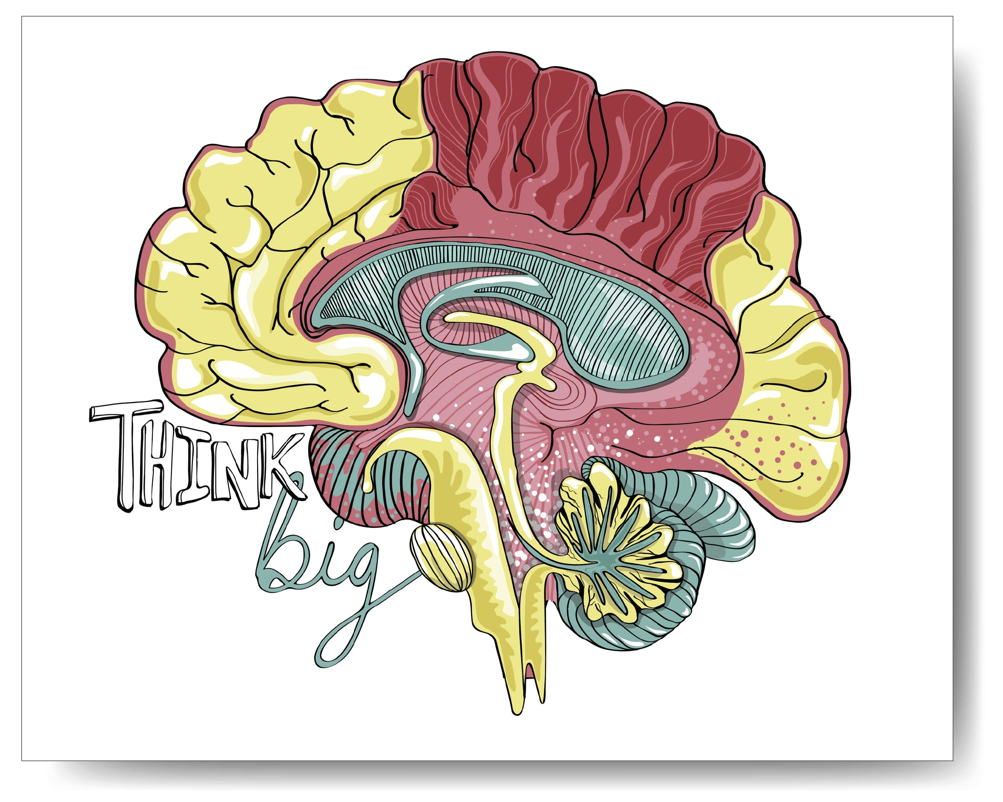 Think Big Brain - 8x10