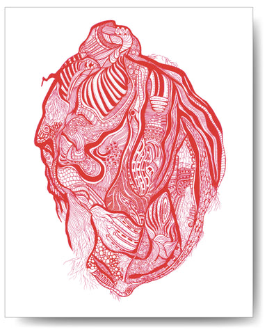 Vein & Artery Heart - 8x10 or 11x14