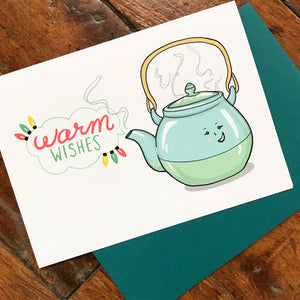Warm Wishes Tea Pot - HOLIDAY
