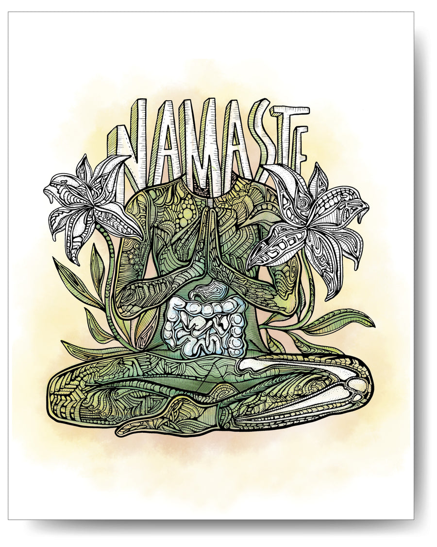 Yoga Series - Namaste - 8x10 or 11x14