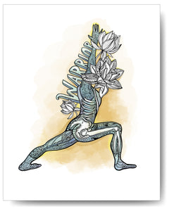 Yoga Series - Warrior One - 8x10 or 11x14