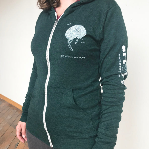 Anatomical Bicyicle Zip-Up Hoodie