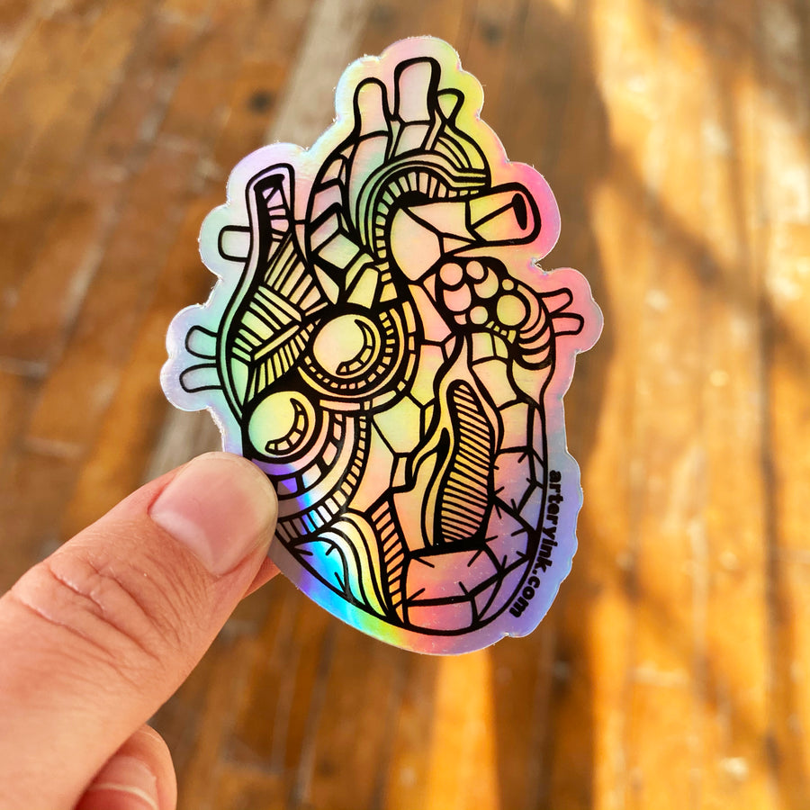 Holographic Mini Heart Vinyl Sticker