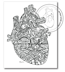 """Heart of Healthcare"" - Prints"