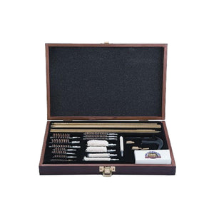 35 Piece Deluxe Universal Gun Cleaning Kit - Wooden Case