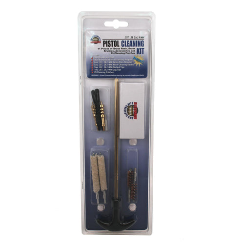 11 Piece Pistol Cleaning Kit - 357-38-9mm