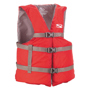 Adult Classic Boating PFD - Red, Universal