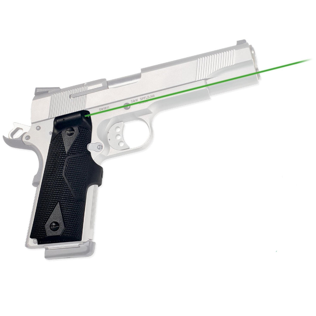 1911 Government-Commander - Lasergrips-Green, Clam Pack