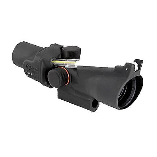 ACOG 2x20mm Compact Dual Illuminated Scope - Amber Crosshair Reticle with M16 Carry Handle Base, Black