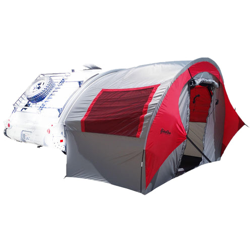 TAB Trailer Side Tent for NuCamp, Little Guy, Dutchman Regular TAB Trailers - Silver-Red