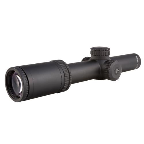 AccuPower 1-4x24mm Riflescope - 30mm Main Tube, Duplex Crosshair Reticle with Red LED, Matte Black