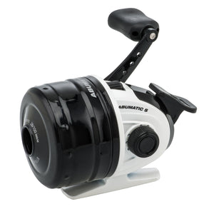 "Abumatic S Spincast Reel - 10, 4.3:1 Gear Ratio, 2 Bearings, 22"" Retrieve Rate, Ambidextrous, Clam Package"