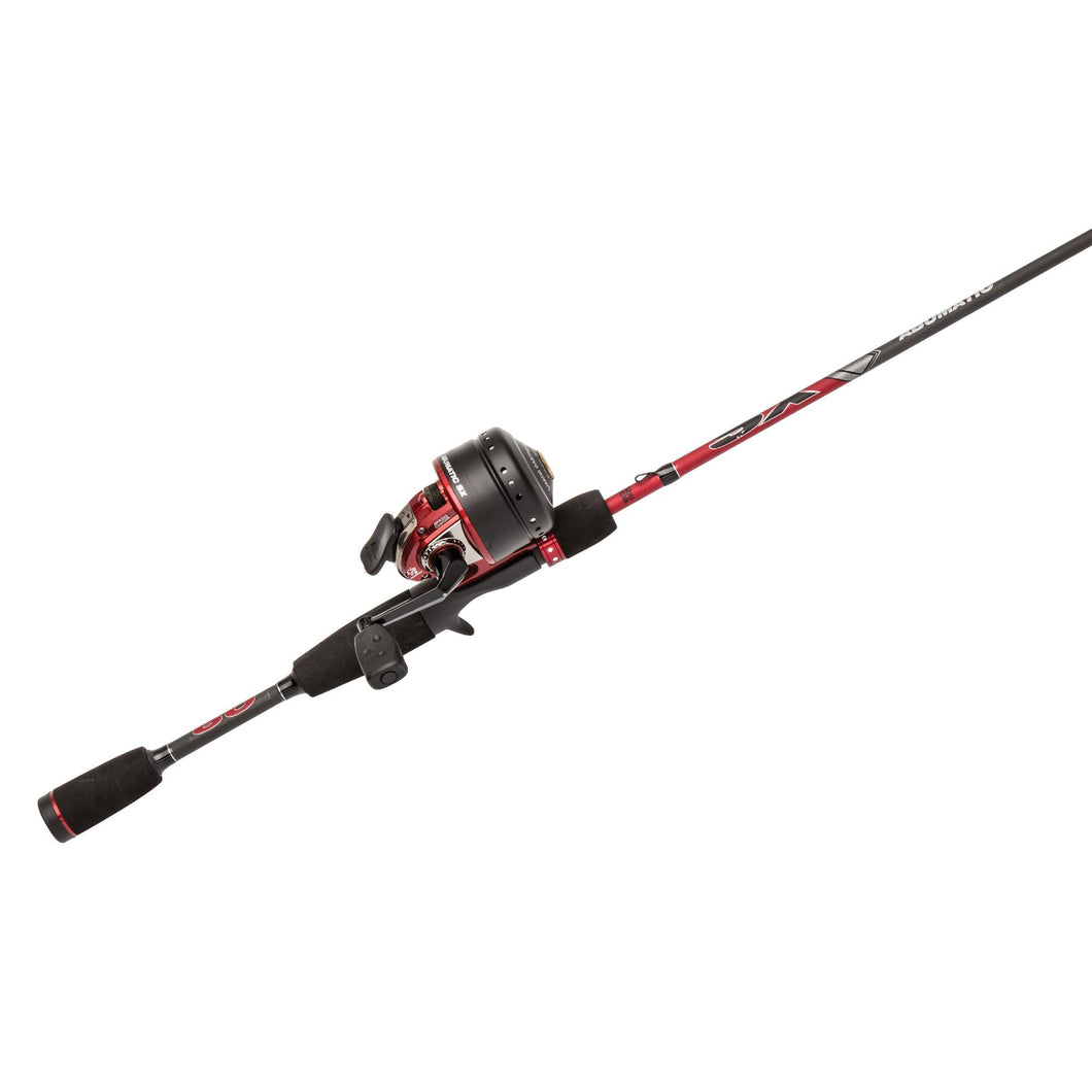 Abumatic SX Combo 3.6:1 Gear Ratio, 6' 2pc Rod, 6-12lb Line Rate, Ambidextrous