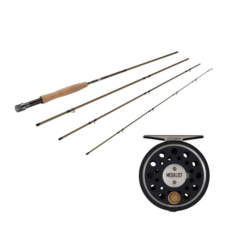 Medalist Fly Kit - 5-6 Reel Size, 1.1:1 Gear Ratio, 9' Length, 4 Piece Rod, 8wt Line Rating