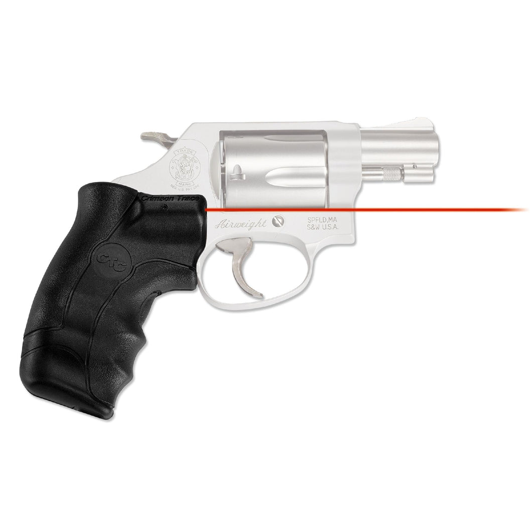 Smith and Wesson - J-Frame Round Butt Lasergrip, Red, Clam Package