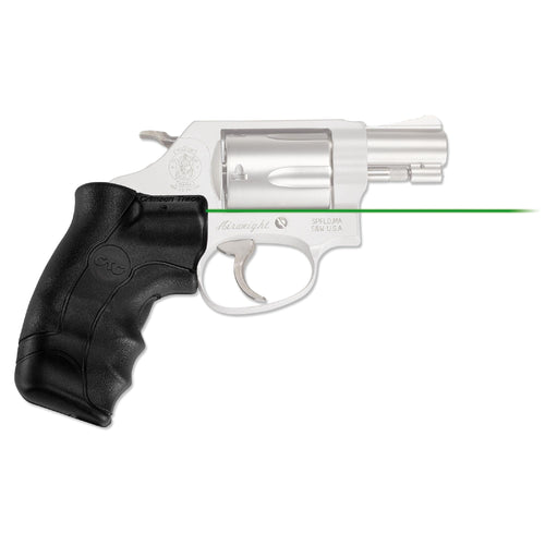 Smith and Wesson - J-Frame Round Butt Lasergrip, Green, Clam Package