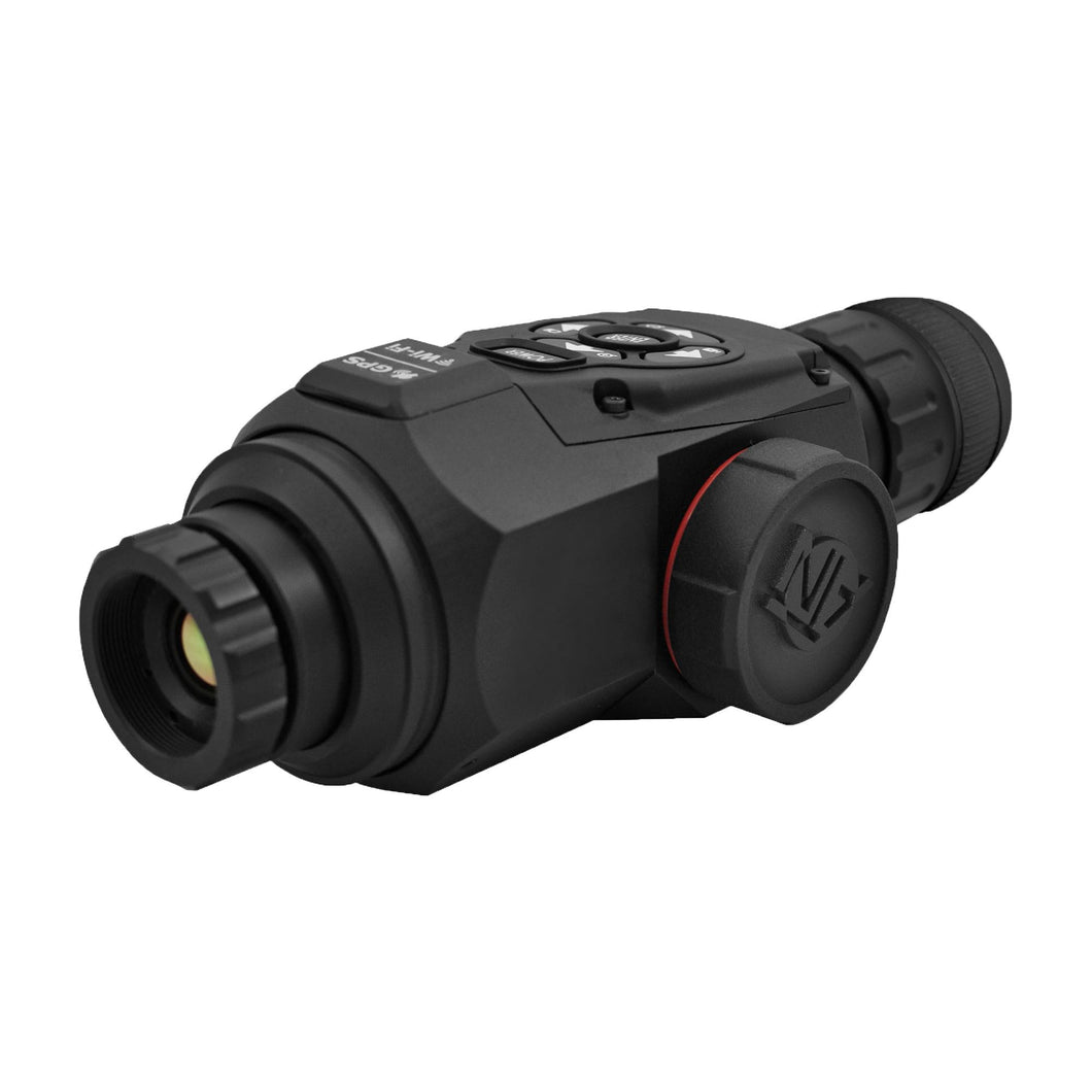OTS HD Thermal Monocular - 1.25-5x, 19mm 384x288, HD Video Recording, Wi-Fi, GPS, Smooth Zoom, Matte Black