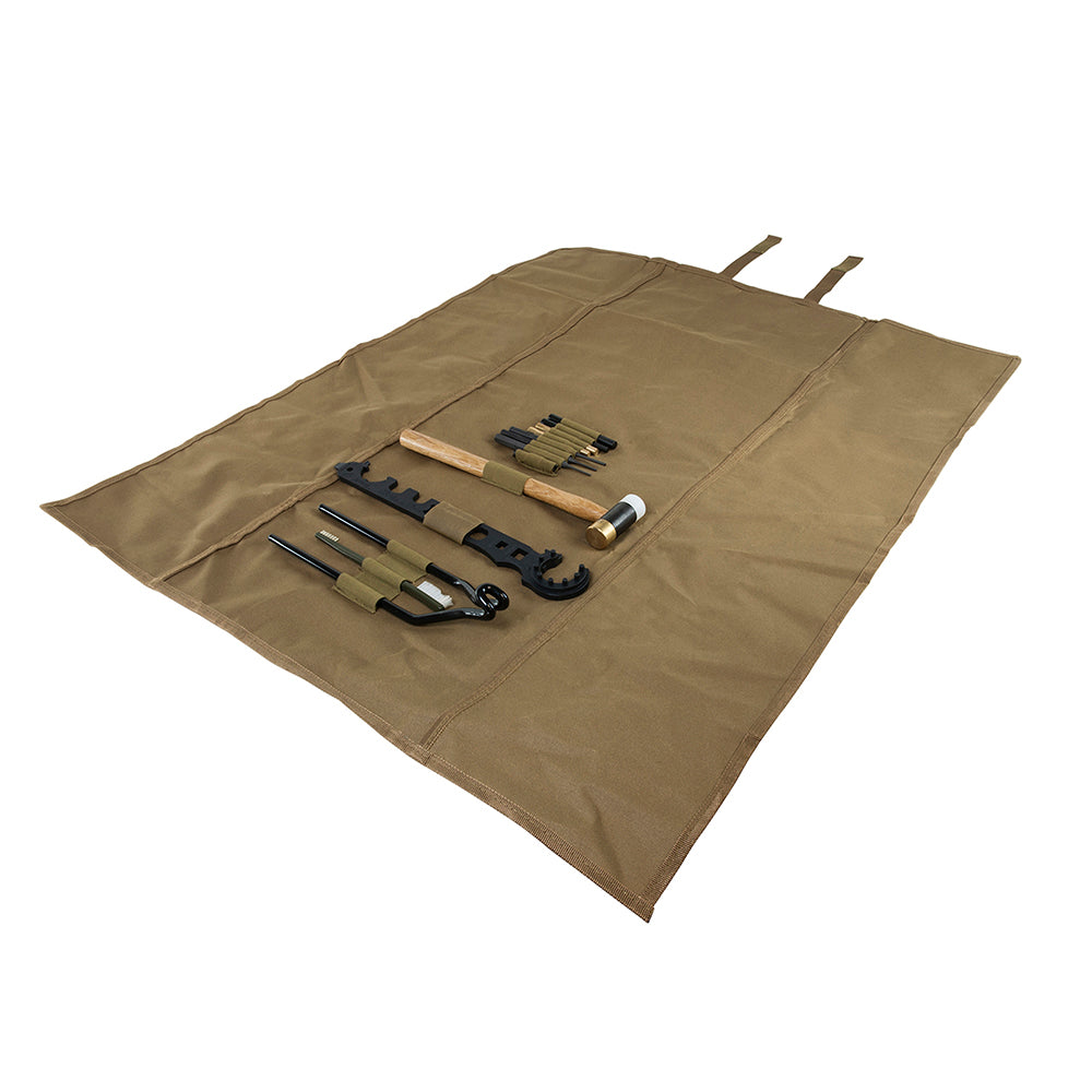 AR15-M4 Gunsmithing Tool Kit - Tan Roll-Up Cleaning Mat