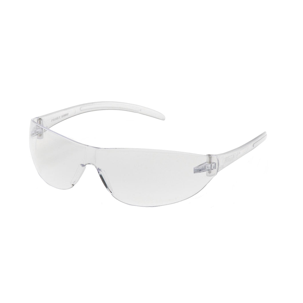 Alair Safety Glasses, Clear Lens with Clear Temples