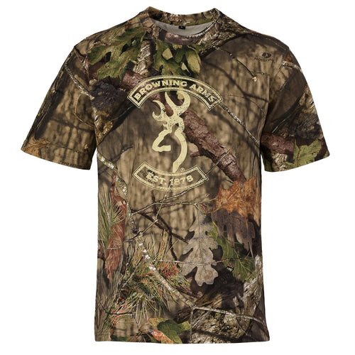 Graphic T-Shirt, Short Sleeve - Buckmark, Mossy Oak Break-Up Country, Small