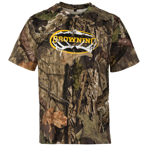 Graphic T-Shirt, Short Sleeve - Sheds Antler, Mossy Oak Break-Up Country, Medium