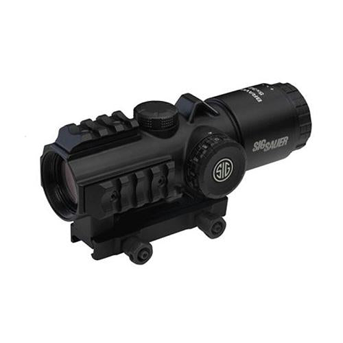 BRAVO3 Prism Sight 5x30mm - 1-2 MOA Adjustments, 300 Blackout Horseshoe Dot Reticle, Black