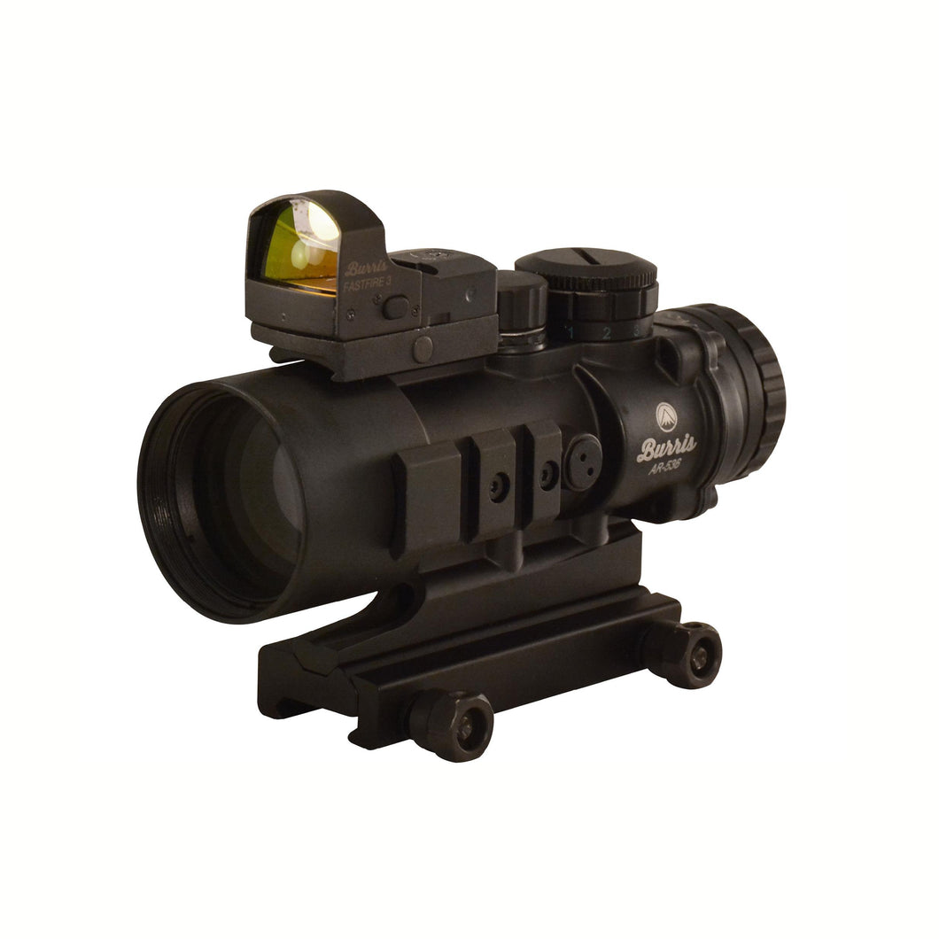 AR Prism Sight Ballistic CQ Reticle with Free FastFire III Reflex Red Dot Sight - AR-536, 5x36mm, 3 MOA with Picatinny Mount, Matte Black