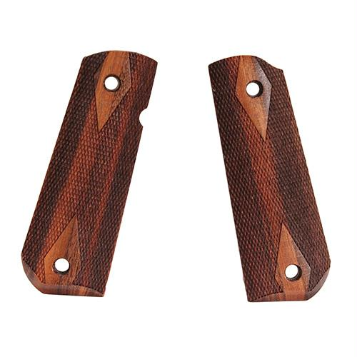 1911 Government Grips - Round Heel, Ambidextrous Safety Cut, Checkered, Goncalo