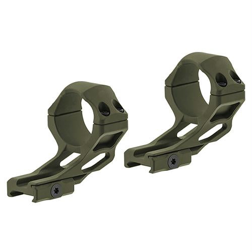 UTG Accu-Sync Offset Picatinny Rings - 34mm High Profile, 37mm, Olive Drab Green