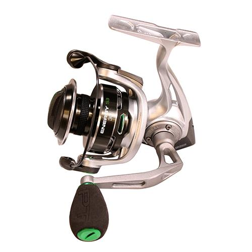 Energy Spinning Reel - Size 35, 5.2:1 Gear Ratio, 8BB+1RB Bearings, 18 lb Max Drag, Ambidextrous