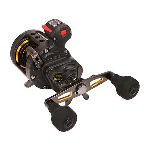 Fathom II Level Wind Line Counter Saltwater Casting Reel - 15, 5.5:1 Gear Ratio, 30