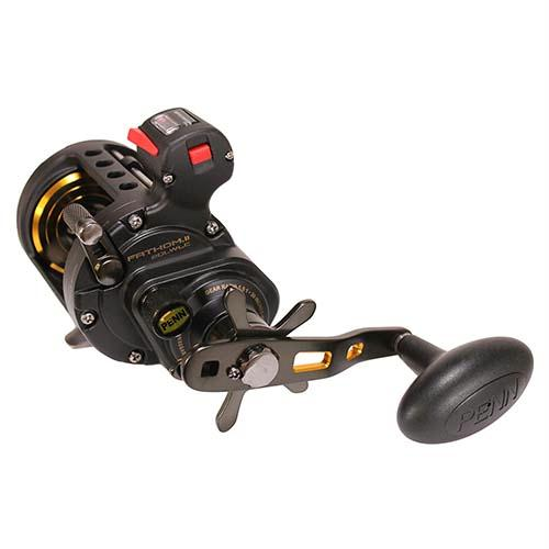 Fathom II Level Wind Line Counter Saltwater Casting Reel - 20, 5.5:1 Gear Ratio, 30