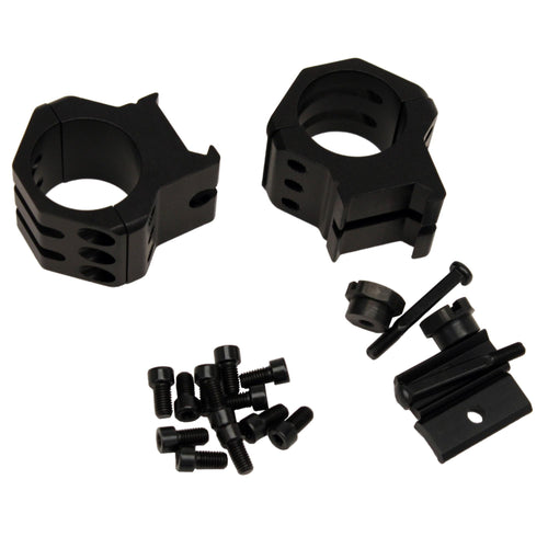 Tactical Rings - High, 6 Point, Matte Black