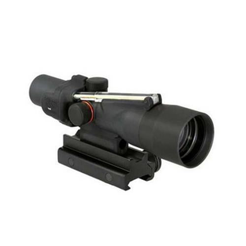 ACOG 3x30mm Compact Dual Illuminated Scope - Amber Horseshoe-Dot 7.62x39mm-123gr Ball Reticle with Colt Knob Thumbscrew Mount