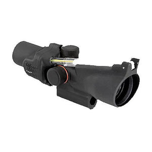 ACOG 2x20mm Compact Dual Illuminated Scope - Amber 6.9 MOA Dot Reticle with M16 Carry Handle Base, Black