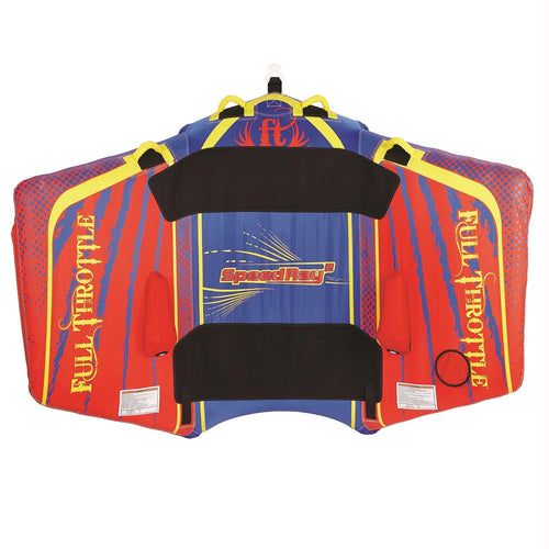Full Throttle Speed Ray 2 - 1 To 2 Riders - Red-Blue