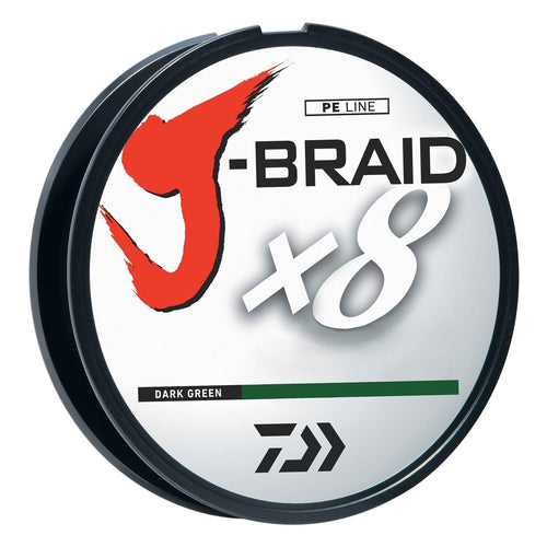 Daiwa J-Braid 3000 Meter 50# Bulk Spool Dark Green