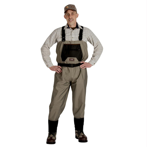 Caddis Men's Breathable Stockingfoot Waders - M Stout Tan