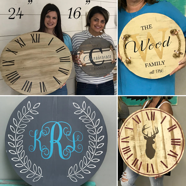 Round Sign Options PRIVATE PARTIES