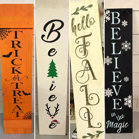 Leaning Porch Signs {Double Sided}